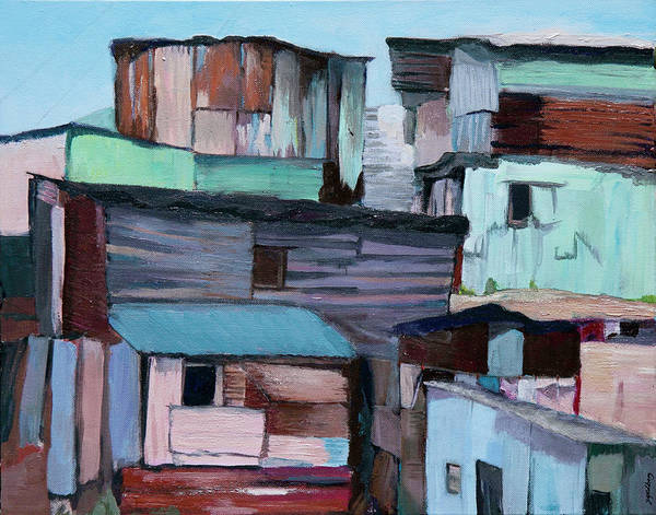 Painting - Shanties by Jillian Goldberg