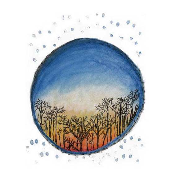 Pastel - Shantivanam Sunset by Annette Hadley