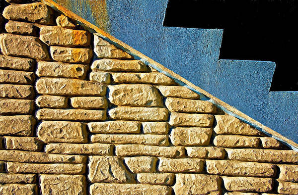 Shapes And Forms Of Station Stairway Art Print