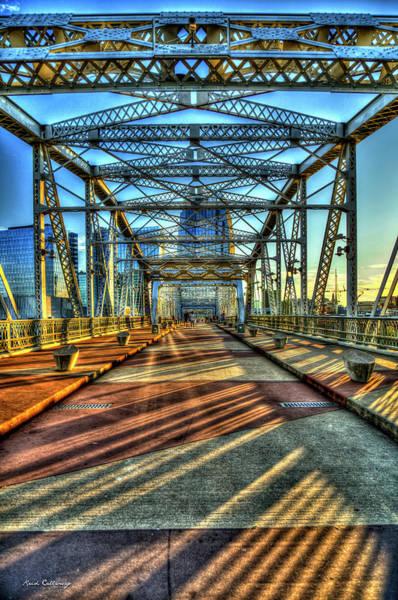 Photograph - Shapes And Shadows The John Seigenthaler Pedestrian Bridge Nashville Tennessee Art by Reid Callaway