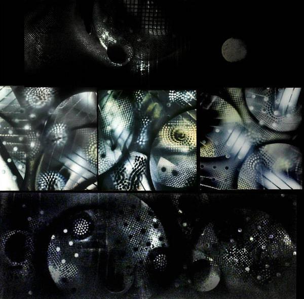 Michael Ferguson Wall Art - Painting - Shapes -black And White by Michael Ferguson