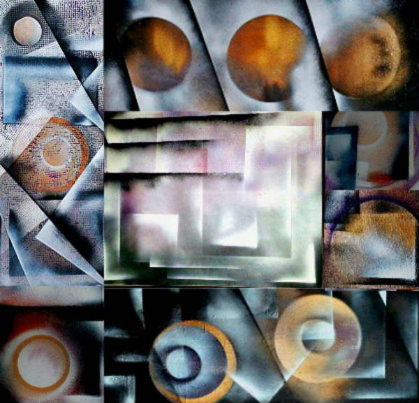 Michael Ferguson Wall Art - Painting - Shapes-seven by Michael Ferguson