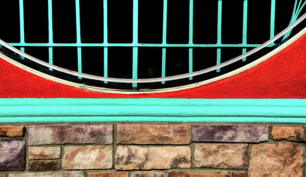 Photograph - Shapes Textures And Colors On Wall by Gary Slawsky