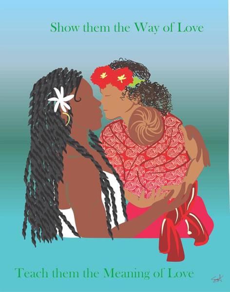 Parenthood Digital Art - Share Babywearing Love by Parenthood Art Designs
