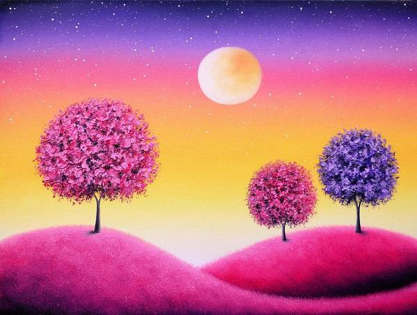 Dreamscape Painting - Share The Nights by Rachel Bingaman