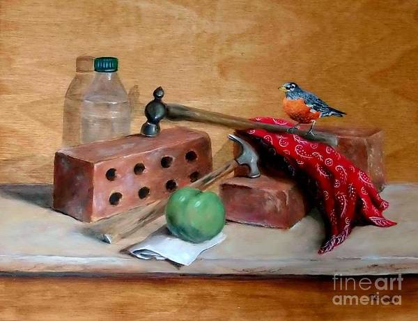 Wall Art - Painting - Sharing Lunch Break by Patricia Lang