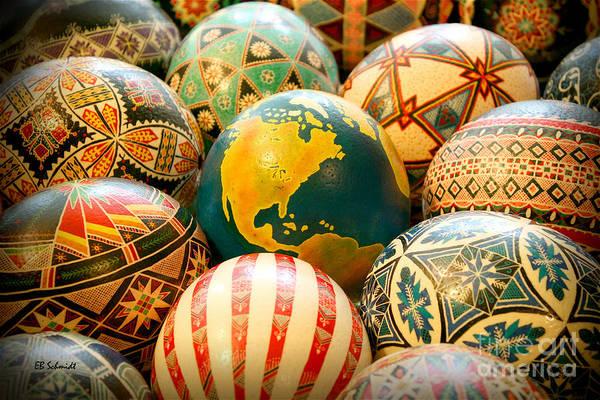 Shari's Ostrich Eggs Art Print