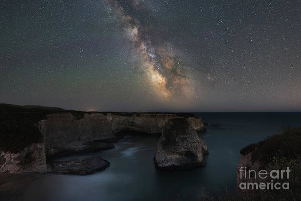 Photograph - Shark Fin Cove Milky Way  by Michael Ver Sprill