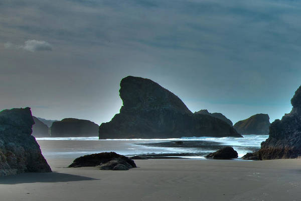 Photograph - Shark Rock Oregon Coast by Norman Hall