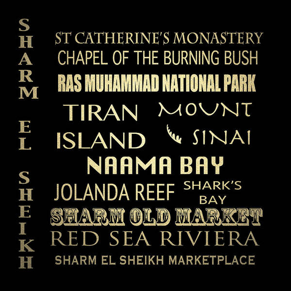Wall Art - Digital Art - Sharm El-sheikh Famous Landmarks by Patricia Lintner