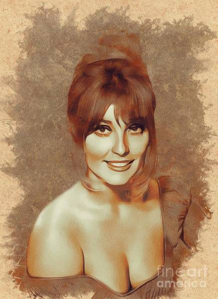 Screen Painting - Sharon Tate, Actress by Mary Bassett
