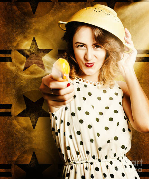 Yellow Banana Photograph - Sharp Shooting Housewife Feeding An Army by Jorgo Photography - Wall Art Gallery