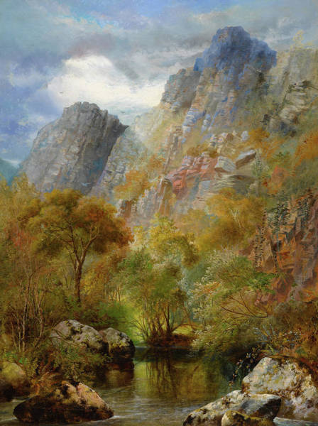 Outcrop Painting - Sharpitor Rocks by William Widgery