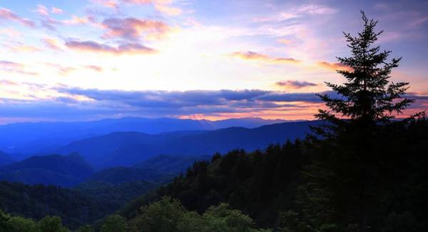 Photograph - Shattered Glow Sunset On The Blue Ridge Parkway by Carol Montoya