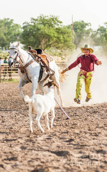 Photograph - Shawnee Sagers Goat Roping Competition by Jim DeLillo