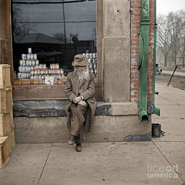 Photograph - Shawneetown Colourised by Russell Brown