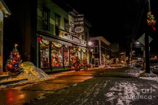 Photograph - Shaws Sports Store. by New England Photography