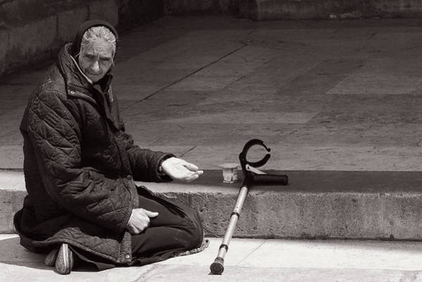 Photograph - She Begs At The Cathedral by Lorraine Devon Wilke