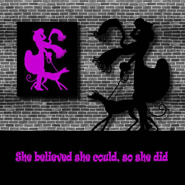 Digital Art - She Believed In Purple by Barbara St Jean