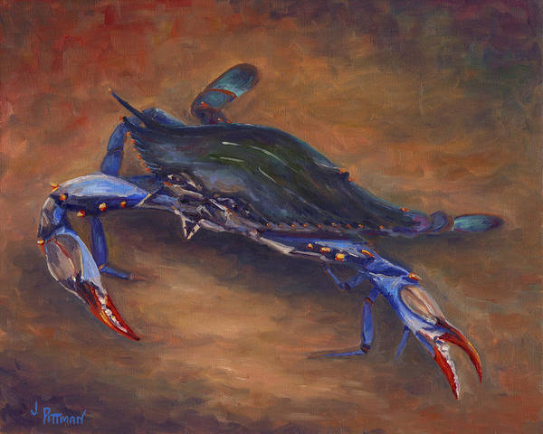 She Painting - She Crab by Jeff Pittman