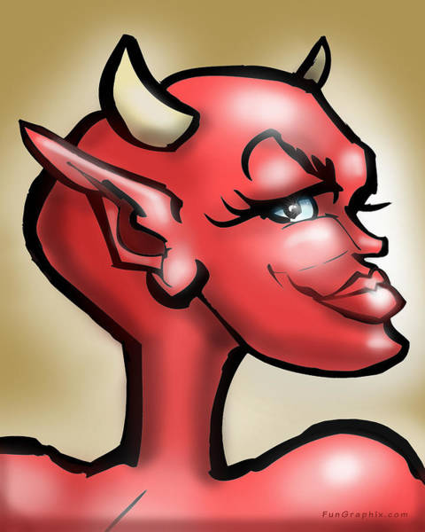 Digital Art - She Devil by Kevin Middleton
