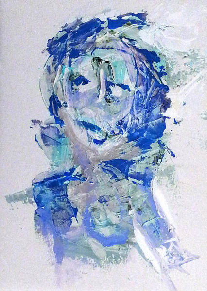 Mixed Media - She Dreams In Blue by Reed Novotny
