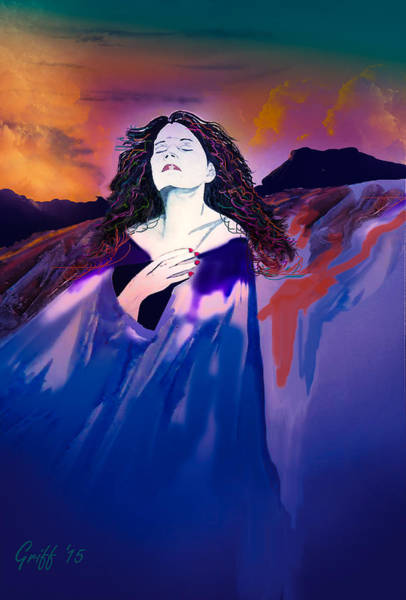 Southwest Digital Art - She Dreams In Rainbow Colors by J Griff Griffin