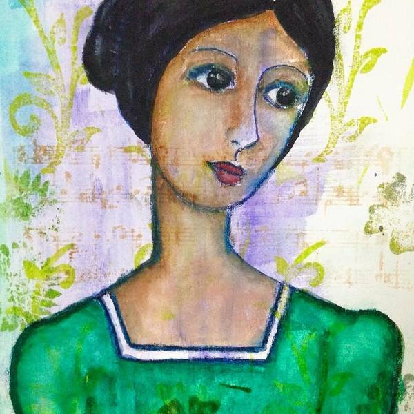 Mixed Media Painting - She Faces The 3/4 by Connie Luayon