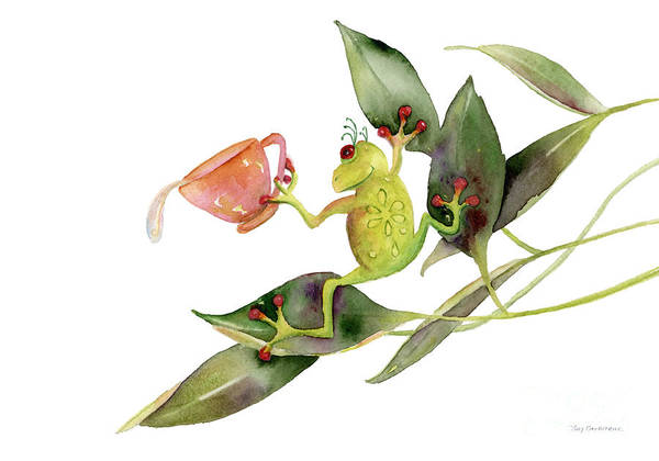 Wall Art - Painting - She Frog by Amy Kirkpatrick