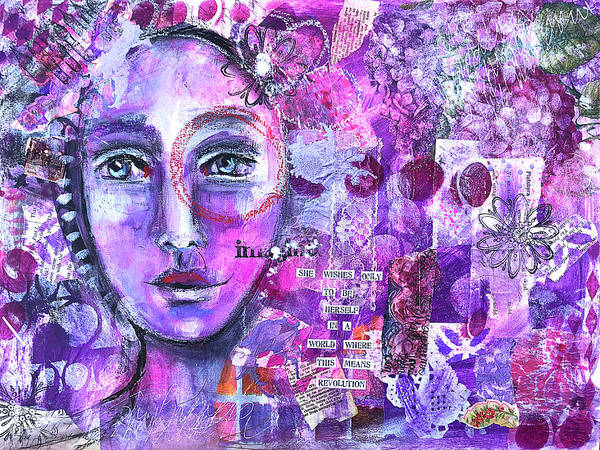 Wall Art - Mixed Media - She Is A Revolutionary by Lynn Colwell