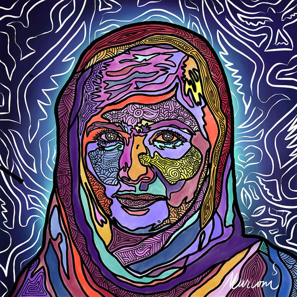 Digital Art - She Is Malala by Marconi Calindas