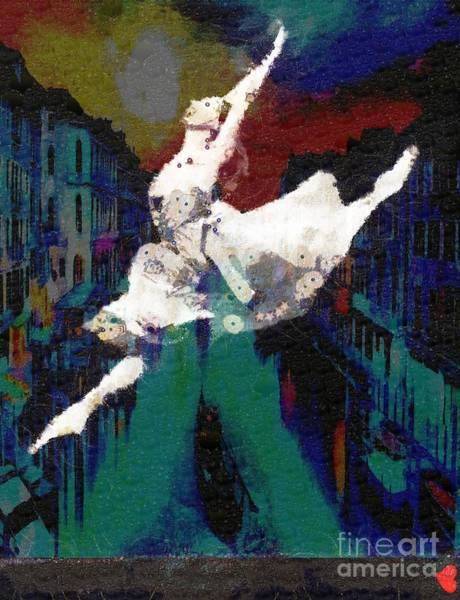 Painting - She Leaps In Italian by Catherine Lott