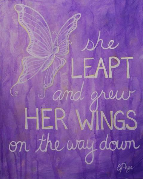 Painting - She Leapt by Emily Page