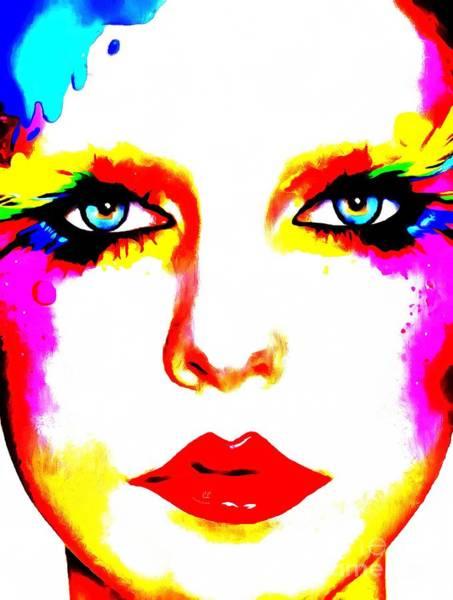 Painting - She Rainbow Splattered by Catherine Lott
