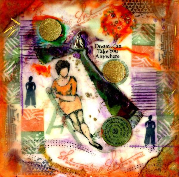 Wall Art - Mixed Media - She Remained True by Angela L Walker