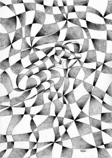 Semi Abstract Drawing - She Rests In Moments After by Hakon Soreide