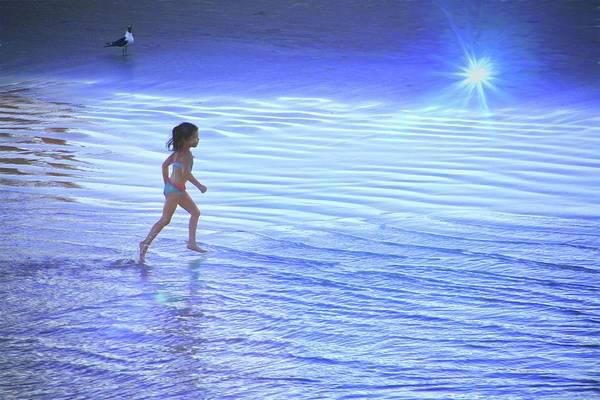 Photograph - She Runs Through Light Flare by Alice Gipson