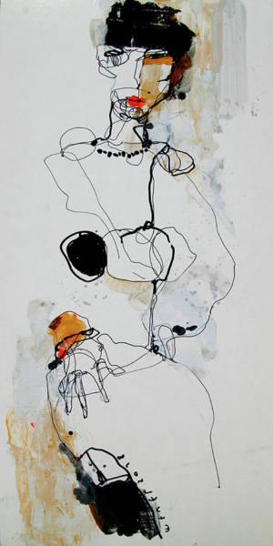 Wall Art - Drawing - she by Viktor Sheleg