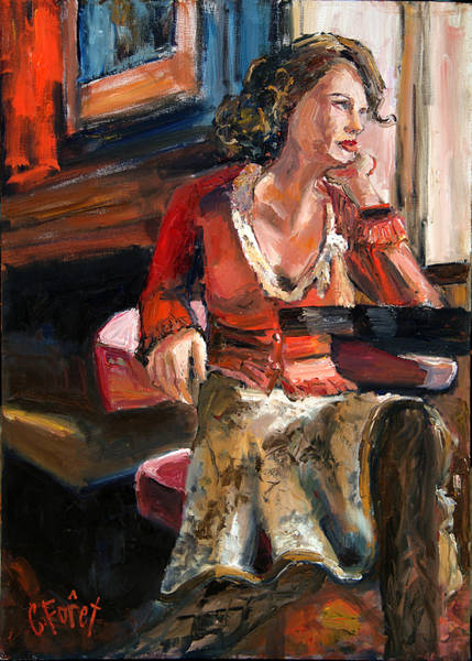 Wall Art - Painting - She Waits by Carole Foret