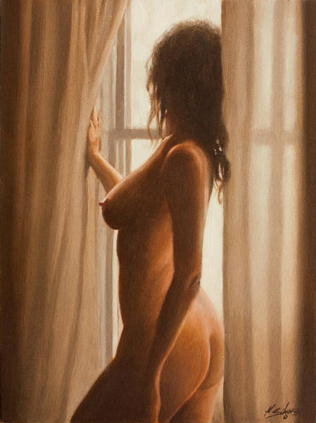 Painting - She Waits by John Silver