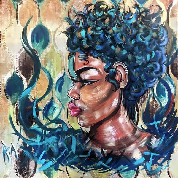 Wall Art - Painting - She Was A Cool Flame by Artist RiA