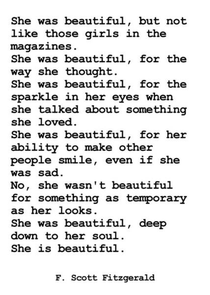 Photograph - She Was Beautiful By F. Scott Fitzgerald #minimalism #poem  by Andrea Anderegg