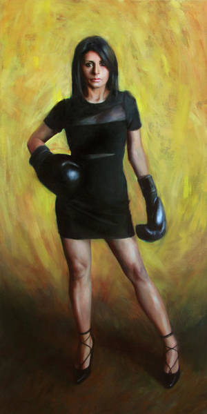 Boxer Wall Art - Painting - She Who Overcomes by Anna Rose Bain