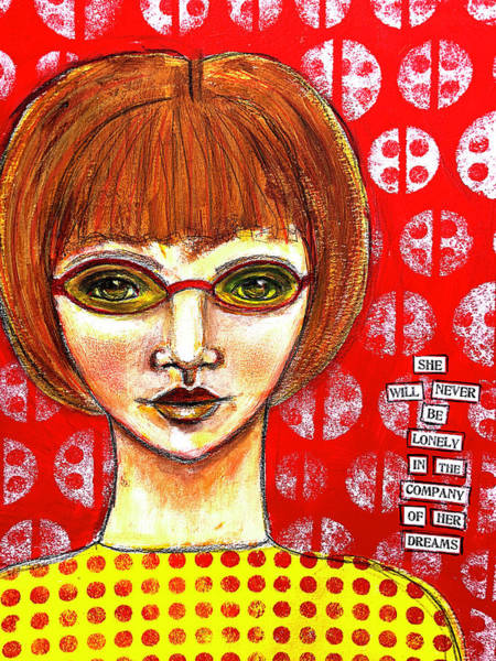 Glass Mixed Media - She Will Never Be Lonely by Lynn Colwell