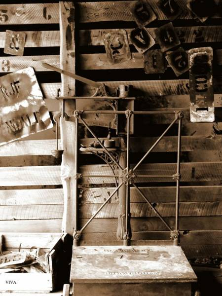 Photograph - Shearing Shed Weighstation by VIVA Anderson