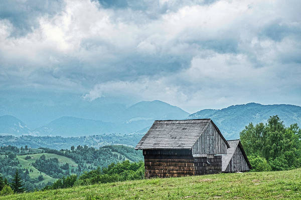 Photograph - Sheds In The Mountains - Romania by Stuart Litoff