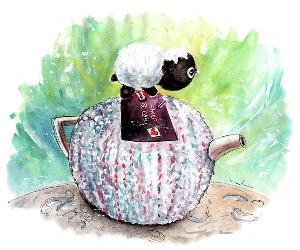 Painting - Sheep And Cosy In Reeth by Miki De Goodaboom