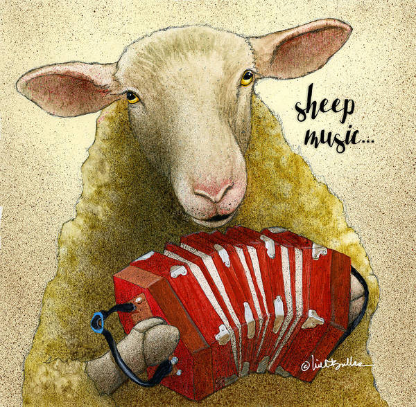 Painting - Sheep Music... by Will Bullas