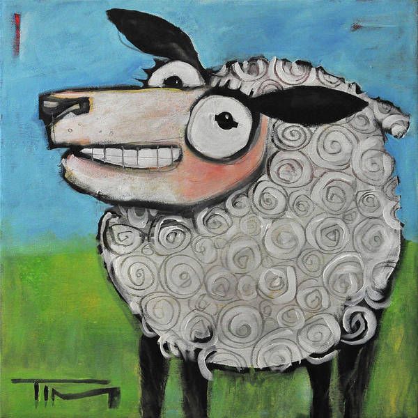 Painting - Sheep by Tim Nyberg