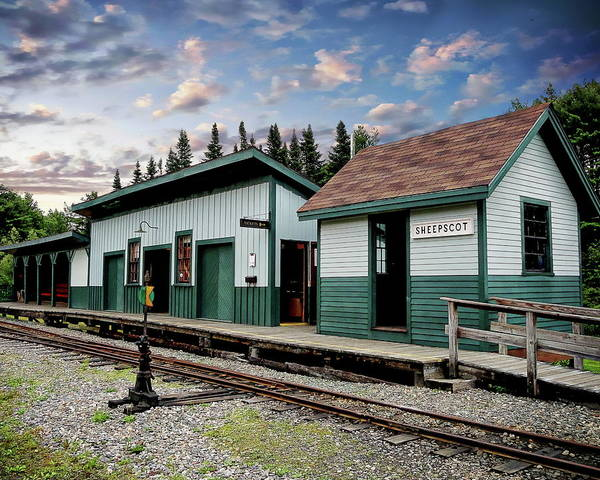 Photograph - Sheepscot Train Station by Anthony Dezenzio